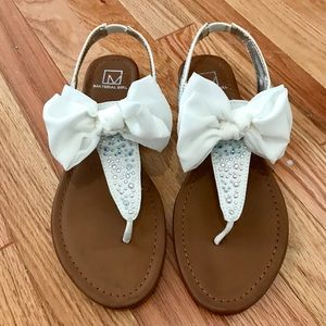 Material Girl Bow Sandals